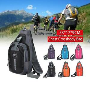 Waterproof Small Chest Bag Outdoor Gym Shoulder Sling Backpack Cross Body Gift