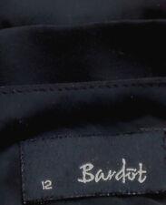 BARDOT SmartSheerFauxSilkPleatedHemSkirt Size12 asNEW