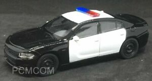 Welly Aprox 1/43 2016 Dodge Charger Police Car BLANK BLACK & WHITE 43742F-D-MJ