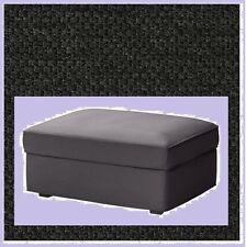 IKEA Kivik Ottoman Cover NEW Dansbo Dark Gray Footstool(MatesAvail)Pique'Waffle