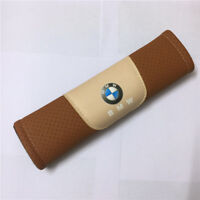2Pcs Brown High Quality Car Seat Belt Shoulder Cushion Cover Pad Fit For BMW Car