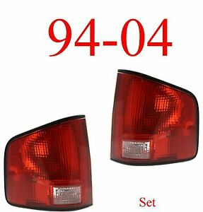 94 04 S10 Tail Light Set Assembly, Chevy, GMC, Isuzu, W/Black Trim Both Sides!