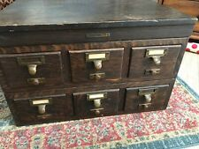 Antique Liberty Bureau Makers  Library Card File Cabinet
