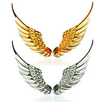 1Pair 3D Metal Angels Wings Car Auto Decoration Emblem Badge Decal Logo Sticker
