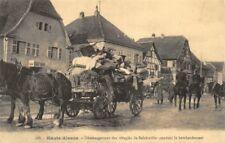 Haute Alsace - Déménagement des réfugiés de Balchwiller pendant le bombardement