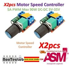 2pcs 5A PWM Max 90W DC Motor Speed Controller Module 3V-35V Switch LED Dimmer