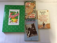 x4 Laurie Lee - Cider With Rosie Illustrated - Selected Poems - As I walked Out