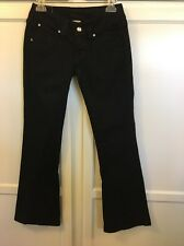True Religion Woman's Disco Joey Jean With Chrystal's /Flap Pockets Twisted Seam