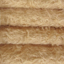 "1/6 yd 325S/C Wheat INTERCAL 5/8"" Semi-Sparse Curly German Mohair Fur Fabric"