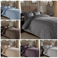 Luxury Floral Damask Jacquard Duvet Set 600TC Bedding With Pillowcases