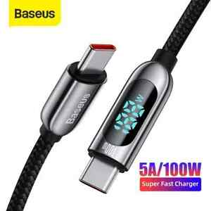 Baseus PD100W Type C to USB C 5A Fast Charger Cable For Samsung Macbook OnePlus