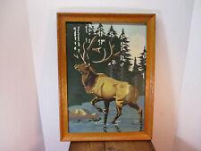 Vintage Elk Paint By Number Painting