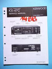 Instrucciones Manual de servicio para Kenwood kx-47c, original