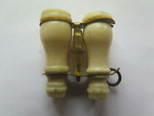 STANHOPE BINOCULARS VIEWER FRENCH BUILDINGS CASTLES PICTURED MADE of BONE c1920s