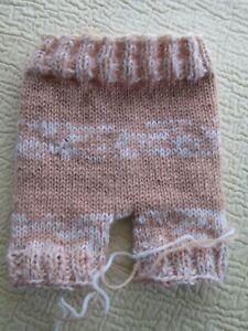 Baby Diaper Cover Wool Soaker Heavy Knit Prewashd Lanolizd Peach Pink White 17