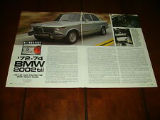 1972 - 1973 -1974 BMW 2002tti   ***ORIGINAL 1993 ARTICLE***