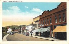 1920's Stores Front St. Hancock NY post card Delaware county