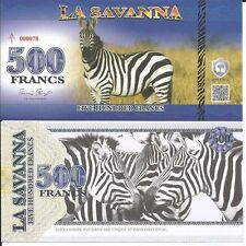 LA SAVANNA BILLETE 500 FRANCS 2015