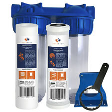 "Aquaboon 2-Stage 10"" Water Filtration System (Includes Sediment &Carbon Filters)"