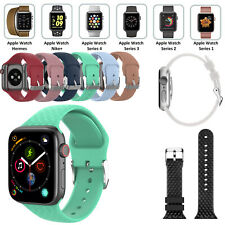 Silicone Sport Band Strap for Apple Watch Series 6 5 4 3 2 1 40mm 44mm 38mm 42mm