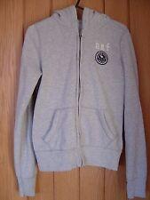 Kids Abercrombie & Fitch Grey Fleece Hoodie Size XL 12 - 14 years Girls (Ref P)