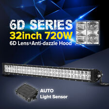 6D 32Inch 720W PHILIPS LED Work Light Bar Combo Offroad UTE Lamp 4x4WD 30/31/36""
