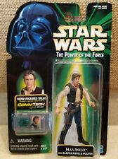 STAR WARS The Power Of The Force HAN SOLO With Blaster Pistol & Holster NEW