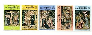 Anguilla MNH #258b Easter 1976 Strip of 5 Folded A289