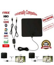 NEW Indoor Digital TV Antenna 100 Miles Range 1080P Signal Booster Amplifier HD