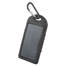 Solar Power Bank 5000 mAh Externe Batterie Mobil Tragbar Akku LED Flash @COFI