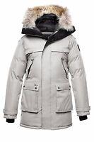 Nobis YATESY Jacket Coat Men - Light Grey Crosshatch New NOS