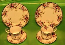 TAZZA CAFFE' TRIO ROYAL ALBERT COTTAGE GARDEN ENGLAND (375A)