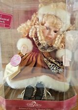 GIFT GALLERY Animated Wind Up Musical Porcelain Doll Tiffany New In Box NOS