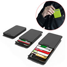 RFID Card Holder Slim Wallet Pop Up Plastic  ID Protector Anti-thief Purse