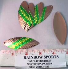 WORM SPINNER BAIT BLADE WILLOW LEAF #6 COPPER  Special PRISM TAPE