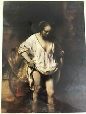 Rembrandt print, A Woman Bathing, unframed,plate c 1654