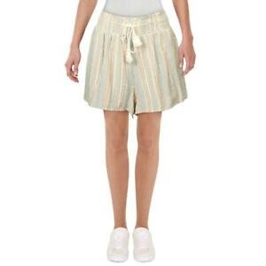 Planet Gold Womens Pink Plus Striped Smocked Casual Shorts Juniors 3X BHFO 0378