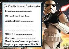 5 cartes invitation anniversaire  star wars  09  d'autres en vente !!