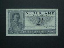 **** Crisp 1943  Netherlands 2&1/2 Gulden  Banknote***