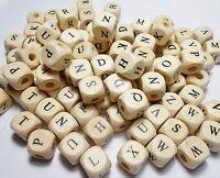 10 Cubi Lettera Legno 11 mm Portaciuccio