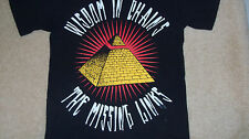 WISDOM IN CHAINS Punk Band T-Shirt The Missing Links Pyramid Hardcore Rock Small