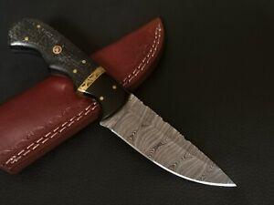 CUSTOM HAND MADE DAMASCUS STEEL BLADE HUNTING KNIFE CF-5645