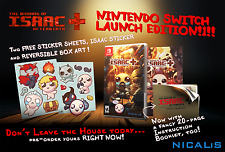 First Print Binding of Isaac Afterbirth+ Launch Edition Stickers Nintendo Switch