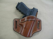 S&W 469, 669, 6906 OWB Leather 2 Slot Molded Pancake Belt Holster CCW TAN RH