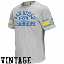 San Diego Chargers Vintage Applique Shirt by Reebok-Grey