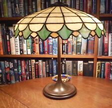 Antique Leaded Glass Lamp Unique Art Glass Co.Handel Tiffany Bradley & Hubbard