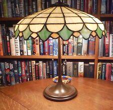 Antique Leaded Glass Lamp Unique Art Glass Co.Handel Tiffany Bradley & Hubbard