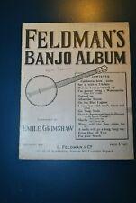 Vintage Feldman's Banjo Album Emile Grimshaw sheet music songbooks