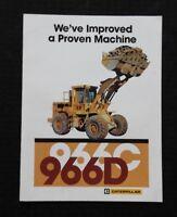 1968-70 CATERPILLAR 966C 966D SERIES WHEEL LOADER TRACTOR CATALOG SALES BROCHURE