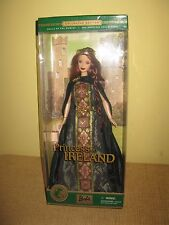2001 Princess Ireland Barbie Dolls of the World red hair gown 53367 doll